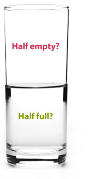 Glass half full/empty